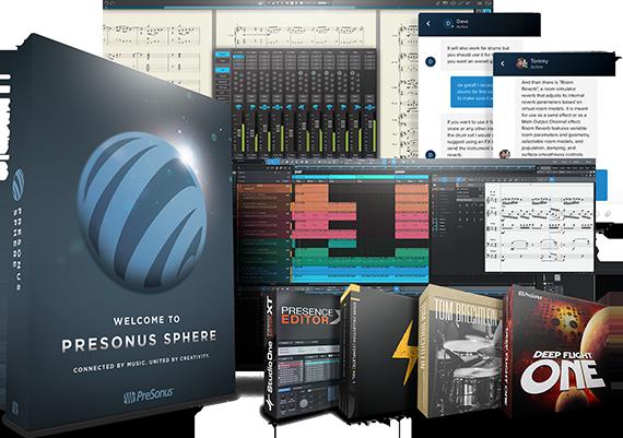 PreSonus Sphere Product Boxes