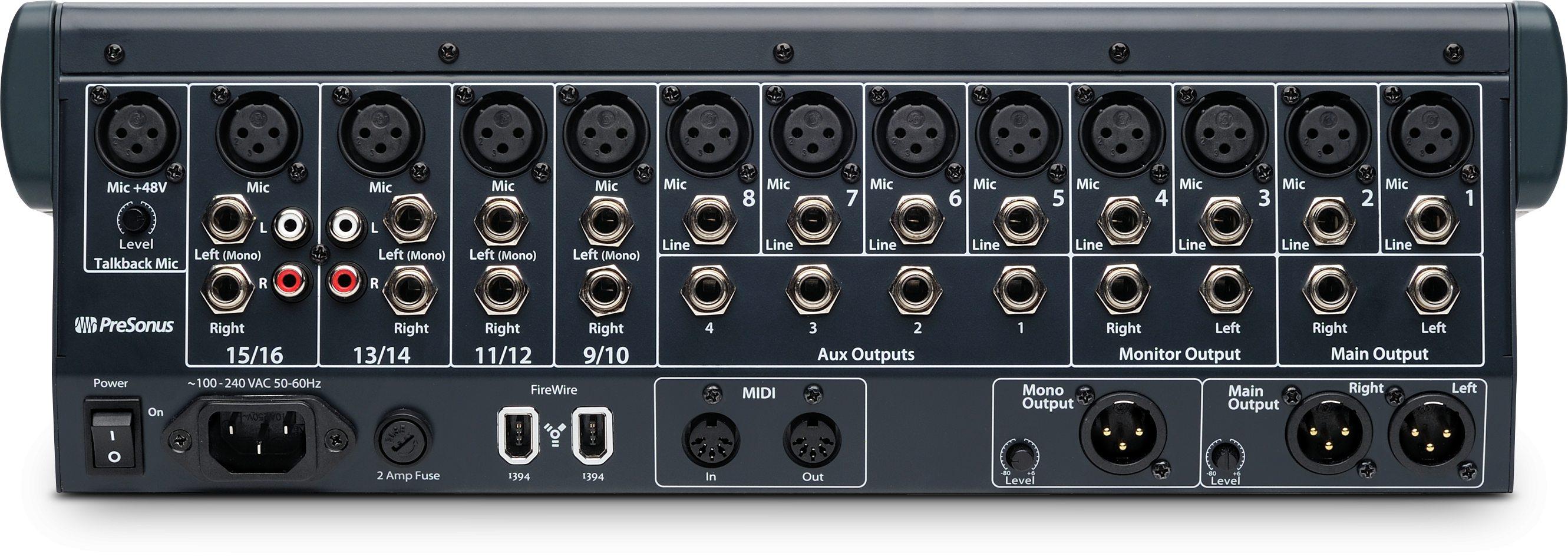 studiolive 16 0 2 media presonus rh presonus com StudioLive Mixdown On StudioLive with External Pre Amp
