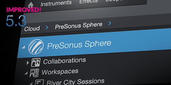 PreSonus Sphere Integration screenshot