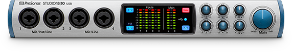 PreSonus Studio 18 10 front view. Click for larger image.