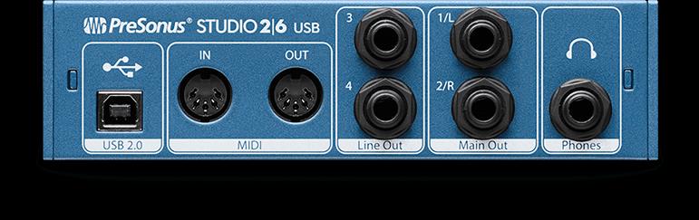 Learned Presonus Studio 26 Recording System Audio/midi Interfaces