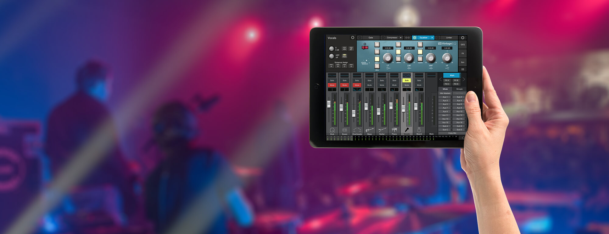 Studiolive 32 Presonus Ipad Usb Wiring Diagram Adjust Monitor Mixes On Stage Move Around The Room To Dial In Your Mix Or Add An Accessory Shelf And Use Mobile Device As Second Screen For