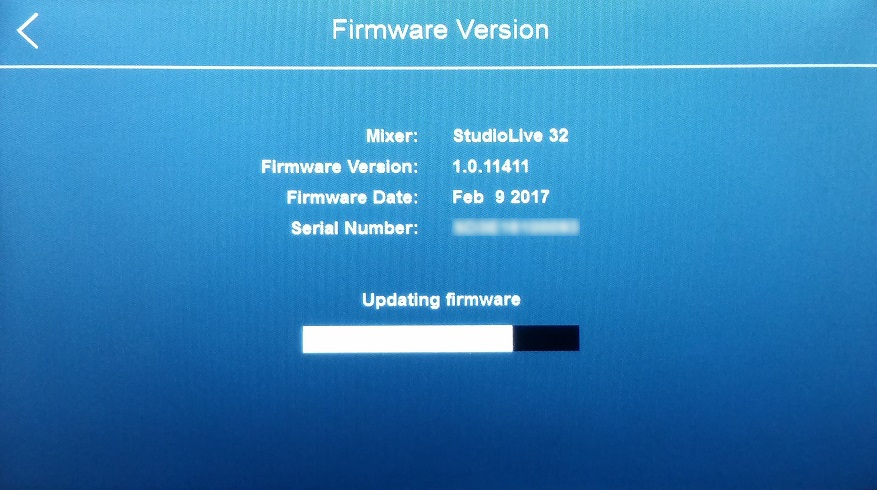 what is the latest firmware for presonus 16.4.2